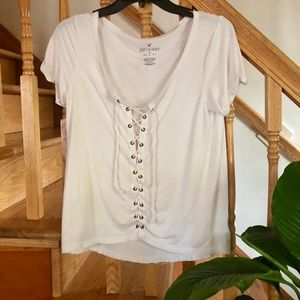 American Eagle Lace Up Shirt